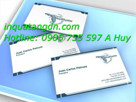 Dịch vụ in card visit tại đà nẵng in danh thiếp nhanh 0905755597