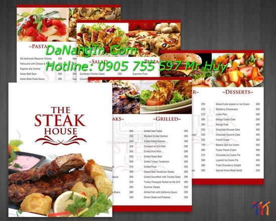 In quảng cáo tại đà nẵng các loại menu card visit order 0905 755 597