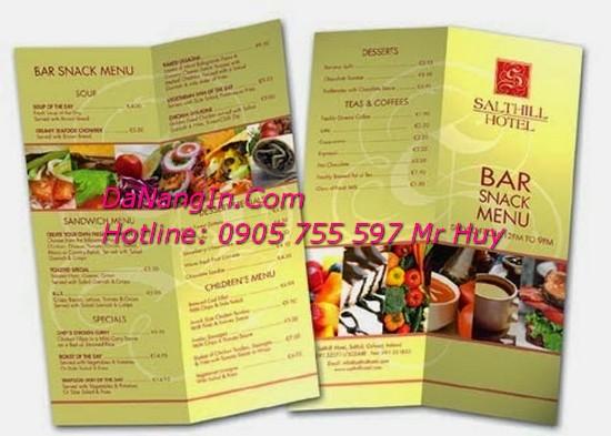 In menu nhà hàng tại đà nẵng chuyên nghiệp Lh 0905 755 597 Mr Huy