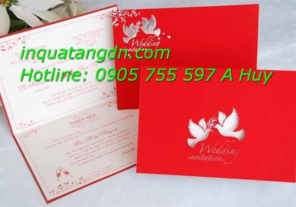 Cung cấp thiệp cưới tại đà nẵng in giá rẻ lấy nhanh 247 lh 0905755597