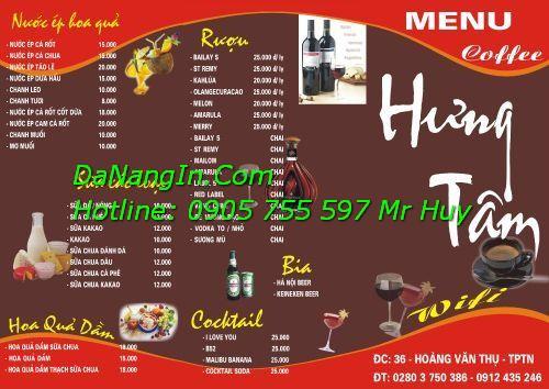 In menu cafe ăn vặt quán nhậu nhà hàng resort LH 0905 755 597 Mr Huy