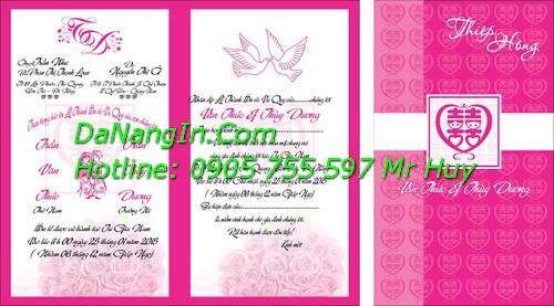 Thiệp cưới giá rẻ tại đà nẵng lấy nhanh gấp