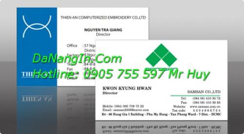 In Danh Thiếp Giá Rẻ Tại Đà Nẵng Nhanh Đẹp LH 0905 755 597 Mr Huy`