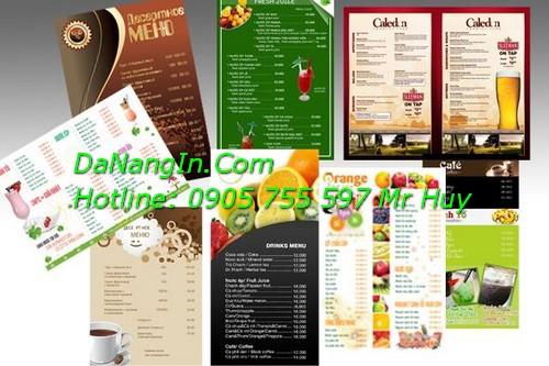 Làm menu quán cafe nhậu ăn vặt nhà hàng resort LH 0905 755 597 Mr Huy