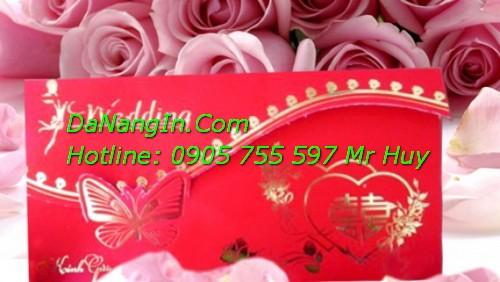 Thiệp cưới đà nẵng giá rẻ in nhanh lấy liền 0905 755 597