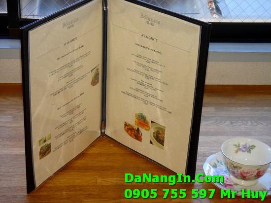 Làm menu nhà hàng quán nhậu tại đà nẵng đẹp nhanh