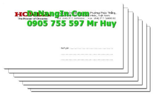 In bì thư logo công ty tại Đà Nẵng giá rẻ lấy nhanh 247