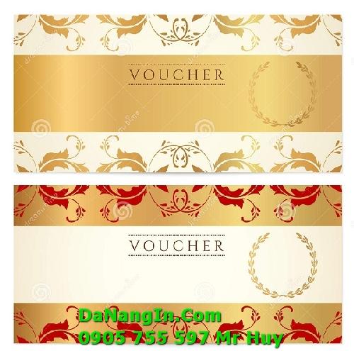 In voucher gift phiếu giảm giá sản phẩm tại đà nẵng