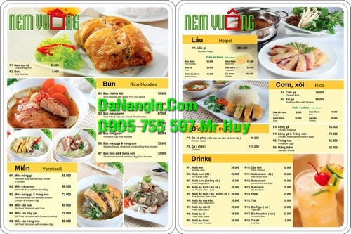Làm menu cafe quán nhậu trà sữa đẹp nhanh giá rẻ 0905 755 597 a huy