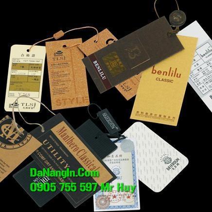 làm nhãn mác tag quần áo thẻ bài thẻ treo tại đà nẵng