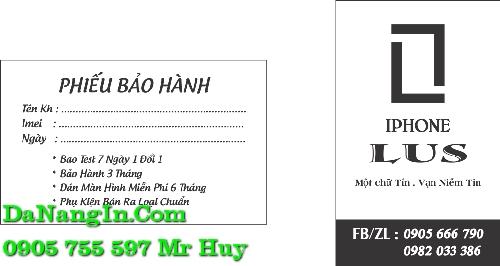 in name card danh thiếp đà nẵng lấy gấp trong ngày