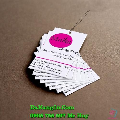 in nhãn mác thẻ treo quần áo theo yêu cầu