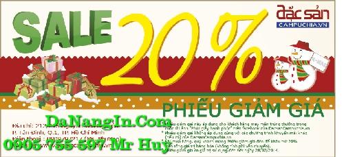 In phiếu quà tặng giảm giá sales tại đà nẵng