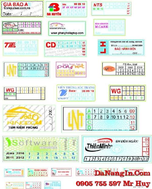 In tem bảo hành tem vỡ lấy gấp tại đà nẵng