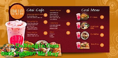 In ấn thiết kế menu cafe quán nhậu trà sữa tại hòa khánh