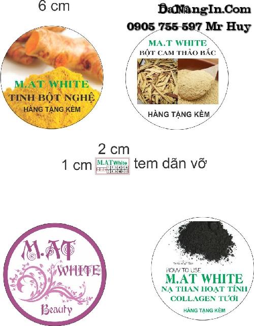 in menu nhãn dán mỹ phẩm decal tại liên chiểu