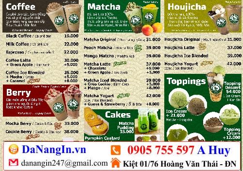 địa chỉ làm menu quán nhậu nhà hàng giá rẻ 0905 755 597 A Huy - Danangin.vn