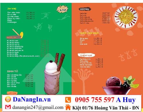 làm menu trà sữa cafe quán nhậu ăn vặt lấy gấp,LH 0905 755 597 A Huy - danangin.vn,đồng phục quán giá rẻ,làm áo game theo yêu cầu,xưởng in lụa đà thành 247
