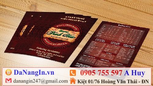 kích thước menu cafe,làm menu lấy gấp,địa chỉ làm menu nhanh đẹp độc rẻ,ở đâu in menu lấy ngay,in menu name card,in ấn đà nẵng,in áo đồng phục quán cafe 24h LH 0905 755 597 A Huy - Danangin.vn