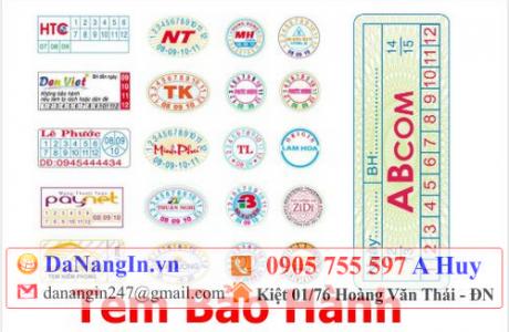 In Tem Bảo Hành Đà Nẵng giá rẻ 0905 755 597 A Huy