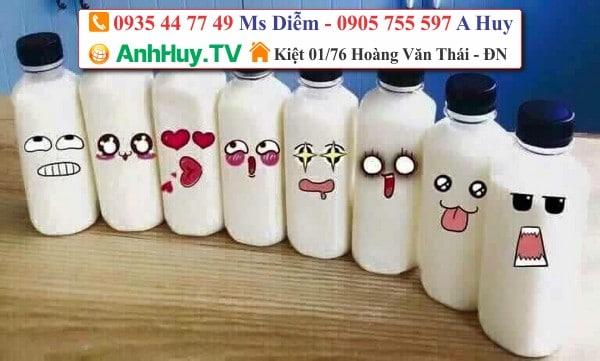 decal dán sản phẩm chai lọ hủ bịch ly nhựa trà sữa coffee 0935447749 XUÂN DIÊM | ANHHUY TV
